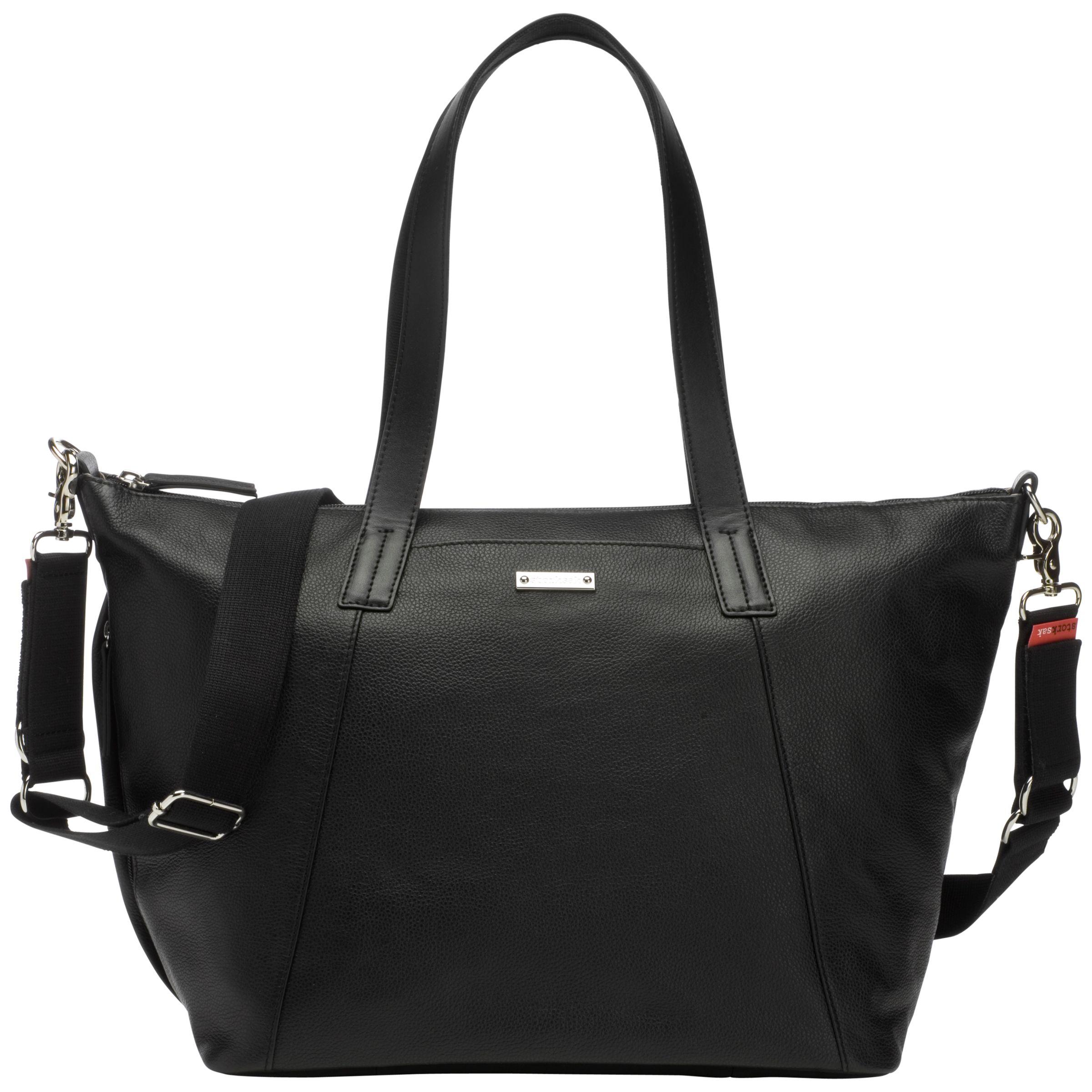 Storksak Storksak Noa Leather Changing Bag, Black