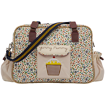 Pink Lining Yummy Mummy Busy Bees Print Changing Bag Cream