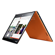 "Buy Lenovo YOGA 700 Convertible Laptop, Intel Core i7, 8GB RAM, 256GB SSD, 14"" Full HD Touch Screen, Clementine Orange Online at johnlewis.com"