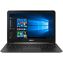 "Buy ASUS ZenBook UX305 Ultrabook, Intel Core M3, 8GB RAM, 128GB SSD, 13.3"" Quad HD, Black Online at johnlewis.com"