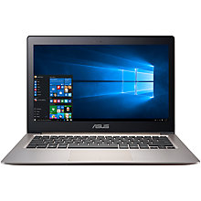 "Buy ASUS ZenBook UX303UA Laptop, Intel Core i7, 8GB RAM, 256GB SSD, 13.3"" Full HD Touch Screen, Smokey Brown Online at johnlewis.com"