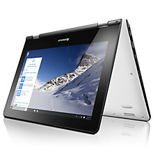 "Buy Lenovo YOGA 300 Convertible Laptop, Intel Celeron, 2GB RAM, 32GB SSD, 11.6"" Touch Screen Online at johnlewis.com"
