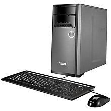 Buy ASUS M32BF Desktop PC, AMD A8, 8GB RAM, 1TB, Silver Online at johnlewis.com