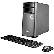 Buy ASUS M32BC Desktop PC, AMD FX, 16GB RAM, 3TB, Silver/Black Online at johnlewis.com