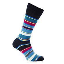 Buy Paul Smith Varied Stripe Socks, One Size, Multi Blue Online at johnlewis.com