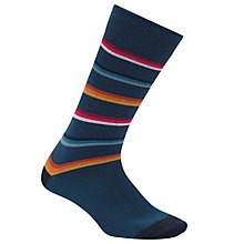 Buy Paul Smith Monograde Socks, Single Pair, One Size, Multi Online at johnlewis.com