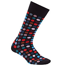 Buy Paul Smith Polka Dot Socks, Single Pair, Navy Online at johnlewis.com