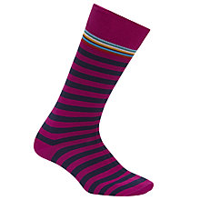 Buy Paul Smith Multi Top Stripe Cotton Socks, One Size Online at johnlewis.com