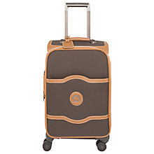Buy Delsey Chatelet Plus Soft 4-Wheel 55cm Cabin Suitcase, Chocolate Online at johnlewis.com
