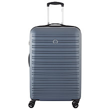 Buy Delsey Segur 4 Wheel 70cm Medium Suitcase, Blue Online at johnlewis.com