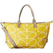 Buy Orla Kiely Giant Linear Stem Zip-Up Holdall, Dandelion Online at johnlewis.com
