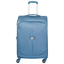 Buy Delsey U-Lite Classic 4-Wheel 67cm Slim Medium Suitcase, Blue Online at johnlewis.com