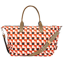 Buy Orla Kiely Exclusive Poppy Cat Holdall, Orange Online at johnlewis.com