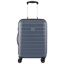 Buy Delsey Segur 4 Wheel 55cm Cabin Suitcase, Blue Online at johnlewis.com