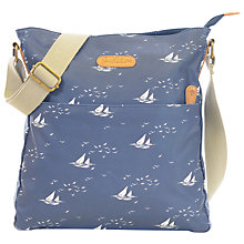 Buy Brakeburn Boats and Birds Large Saddle Bag, Navy Online at johnlewis.com