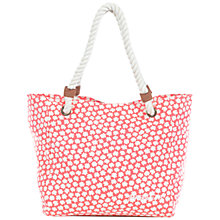 Buy Brakeburn Delicate Daisy Beach Bag, Coral Online at johnlewis.com