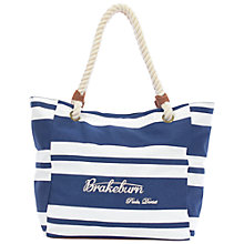 Buy Brakeburn Classic Stripe Beach Bag, Navy Online at johnlewis.com