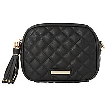 Buy Dune Daizy Quilted Across Body Bag, Black Online at johnlewis.com
