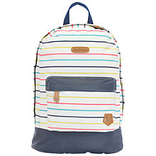 Buy Brakeburn Multi Stripe Backpack, White Online at johnlewis.com