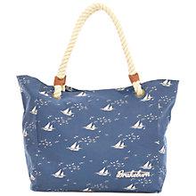 Buy Brakeburn Boats And Birds Beach Bag, Navy Online at johnlewis.com