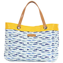 Buy Brakeburn Fish Tote Bag, Blue Online at johnlewis.com