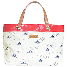Buy Brakeburn Boats and Birds Tote Bag, White Online at johnlewis.com