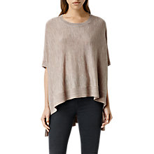 Buy AllSaints Merino Wool Arple Cape, Nude Online at johnlewis.com