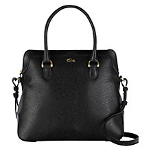 Buy Tula Rye Leather Medium Zip Top Leather Grab Bag, Black Online at johnlewis.com