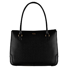 Buy Tula Rye Medium Double Flap Leather Tote Bag, Black Online at johnlewis.com