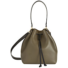 Buy Jaeger Oxford Leather Duffle Bag, Olive Online at johnlewis.com