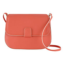 Buy Tula Smooth Orginals Small Flapover Leather Across Body Bag, Pink Online at johnlewis.com