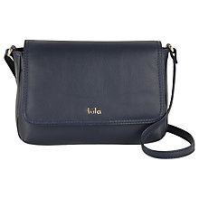 Buy Tula Nappa Originals Leather Small Flap Over Across Body Bag, Navy Online at johnlewis.com