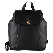 Buy Tula Nappa Lock Originals Medium Leather Backpack, Black Online at johnlewis.com