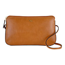 Buy Tula Smooth Originals Small Zip Top Leather Across Body Bag Online at johnlewis.com