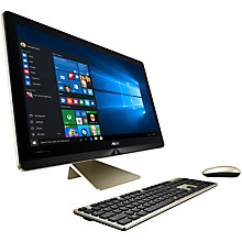 "Buy ASUS Zen Z240IC All-in-One Desktop PC, Intel Core i7, 8GB RAM, 1TB HDD + 128GB SSD, 23"" Full HD Touchscreen, Gold Online at johnlewis.com"