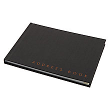 Buy John Lewis Address Book, Black Online at johnlewis.com