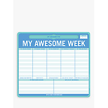 Buy Knock Knock My Awesome Week Mouse Pad Online at johnlewis.com
