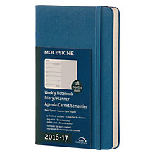 Buy Moleskine 18 Month Weekly Diary/Planner Notebook 2016-17 Online at johnlewis.com
