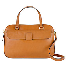 Buy Tula Smooth Originals Medium Double Zip Leather Grab Bag, Tan Online at johnlewis.com