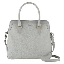 Buy Tula Rye Originals Medium Double Flap Leather Tote Bag, Grey Online at johnlewis.com