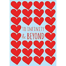 Buy To Infinity & Beyond Valentine's Day Card, A4-size Online at johnlewis.com