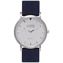 Buy Shore Projects W006S003 Unisex Cowes Wool Strap Watch, Navy/Silver Online at johnlewis.com