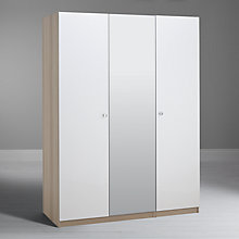 Buy House by John Lewis Mix it Clear Crystal Handle Bedroom Range, Gloss White/Natural Oak Online at johnlewis.com