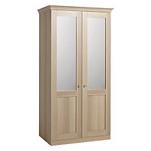 Buy John Lewis Mix it Woburn Clear Crystal Handle Double Mirror Wardrobe, Natural Oak Online at johnlewis.com