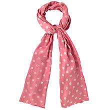 Buy Cath Kidston Button Spot Scarf, Papaya/Cream Online at johnlewis.com