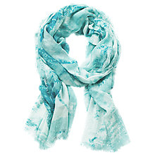 Buy Betty Barclay Embellished Print Scarf, Green Online at johnlewis.com