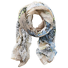 Buy Betty Barclay Long Floral Print Scarf, Taupe/Cream Online at johnlewis.com