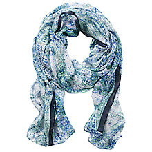 Buy Betty Barclay Long Floral Print Scarf, Dark Blue/Green Online at johnlewis.com