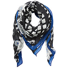 Buy Betty Barclay Printed Square Scarf, Black/Blue Online at johnlewis.com