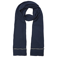 Buy Jacques Vert Chiffon Embellished Shawl, Navy Online at johnlewis.com